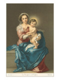 Madonna and Child by Murillo, Florence Posters