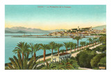 View of the Croisette, Cannes, France Posters
