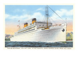 Ocean Liner SS Monterey Print