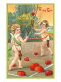 To My Love, Cupids Playing Tennis Poster
