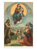 Madonna of the Foligno by Raphael, Rome Poster