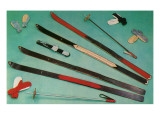 Cross-Country Skiing Equipment Poster