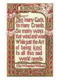 Wilcox Exhortation to Kindness Plakater