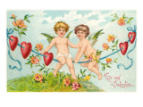 To My Valentine, Cupids on Rope Prints