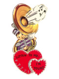Tuba Playing Valentine Posters