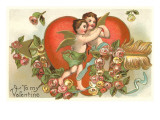 To My Valentine, Dancing Cupids Prints