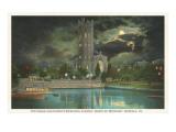 Moon over Episcopal Church, Norfolk, Virginia Posters