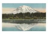 Mt. Tacoma, Lake Spanaway, Washington Art