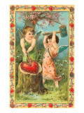 To My Valentine, Cupids Breaking Heart Prints
