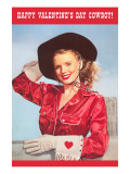 Happy Valentine's Day, Blonde Cowgirl Prints