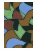 Abstract Stained Glass Pattern Print