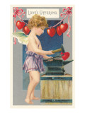 Loves Offering, Cupid with Anvil Prints