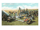 Roundup Camp in Wyoming Poster
