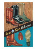 Botas, Lone Star Wellington Posters