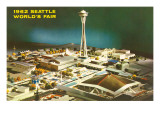 Maquette of 1962 World's Fair, Seattle, Washington Posters
