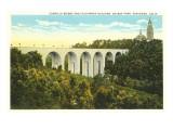 Cabrillo Bridge, Balboa Park, San Diego, California Poster