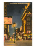 Night in Chinatown, San Francisco, California Prints