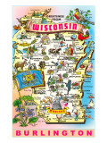 Greetings from Wisconsin, Burlington Prints