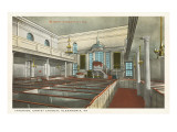 Interior, Christ Church, Alexandria, Virginia Print