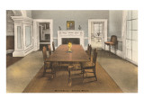 Dining Room, Monticello, Charlottesville, Virginia Print