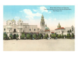 Exposition Buildings, Balboa Park, San Diego, California Print