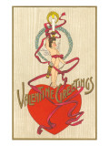 Valentine Greetings, Cupid with Candle on Head Prints