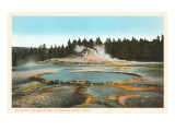 Castle Well and Cone, Yellowstone National Park Prints