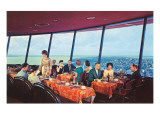 Diners in Space Needle, Seattle, Washington Prints