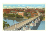 Viaduct and Business District, Lynchburg, Virginia Posters