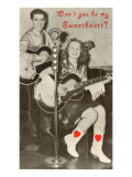 Wont You Be My Sweetheart Country Singing Duo Print