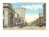 Penn and Center Avenues, Pittsburgh, Pennsylvania Poster