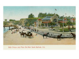 Bath House and Plaza del Mar, Santa Barbara, California Prints