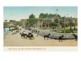 Bath House and Plaza del Mar, Santa Barbara, California Prints