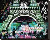 Paris la nuit - Mini Reproduction transférée sur toile par  Kaly