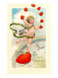 Be My Valentine, Cupid Juggling Hearts Art