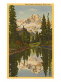 Mt. Rainier from Mirror Lake, Washington Poster