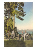 Horseback Riding in the Great Outdoors Posters