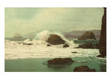 Early View of San Francisco Bay, California Print