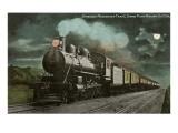Moon over Locomotive Poster