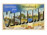 Greetings from Woodstock, Vermont Poster