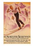 St. Moritz Ski Run, 1928 Print