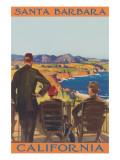 Watching the Cliffs, Santa Barbara, California Posters