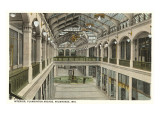 Interior, Plankinton Arcade, Milwaukee, Wisconsin Prints
