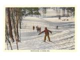 Skiing Scene, La Crosse, Wisconsin Posters