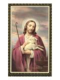 Jesus Christ with Lamb Plakaty