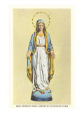 Statue of Virgin Mary Print