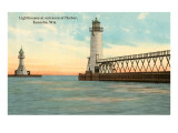 Lighthouses, Kenosha, Wisconsin Kunstdrucke