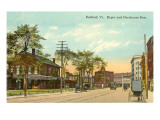 Depot and Merchants Row, Rutland, Vermont Prints