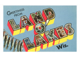 Greetings from Land O'Lakes, Wisconsin Posters