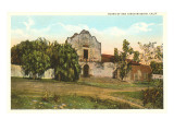 Ruins of Mission in San Diego, California Prints